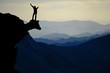 Leinwandbild Motiv victory and happiness of a struggling man