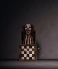 Clown's Toy In Dark Room,3d Rendering