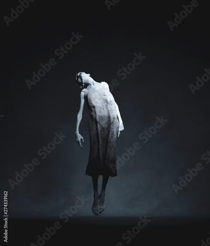 Ghost woman floating,3d rendering Wallpaper Mural