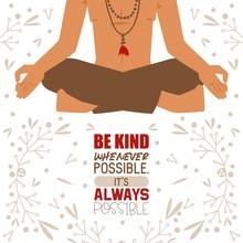 Meditating Yogi Man In Yoga Lo...