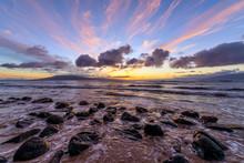 Sunset Rocky Coast - A Colorfu...