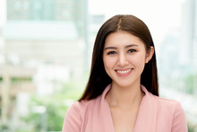 Asian Women Smiling Beautiful Teeth Which Is Caused The Care In Brushing Teeth Every Day Making Good Personality In Society And Has  Beautiful Face With Good Skin Makes You Feel Happy In Everyday Life