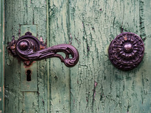 Closeup Of The Doorknob On The...