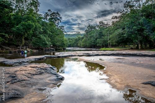 Fototapeten Wasserfalle Tat Ton waterfall in Tat-Ton national park in Chaiyaphum province, Thailand
