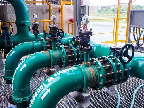 Платно Manual valve for apply industrial zone which popular to install with tank, pipe, pump, pond and mature in Combined-Cycle Co-Generation Power Plant