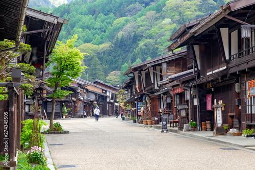 奈良井宿の風景、長野県塩尻市奈良井にて