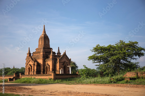 Beautiful landscape of ancient pagoda and temple in Bagan archaeological site