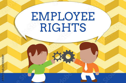 Photo Word writing text Employee Rights