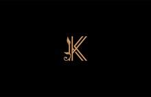 K Letter Linear Shape Luxury Flourishes Ornament Logotype