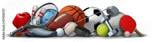 Sport Objects Wallpaper Mural