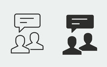 Online Consultation Vector Icon For Graphic And Web Design.