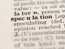 Dictionary Definition Of Word Speculation, Selective Focus.