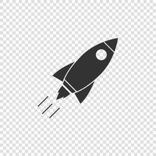 Rocket Icon Vector Illustration Isolated