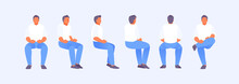 Sitting Man From Different Sides