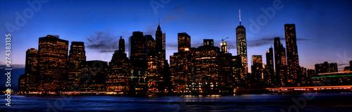 Foto  Mordern city night scene