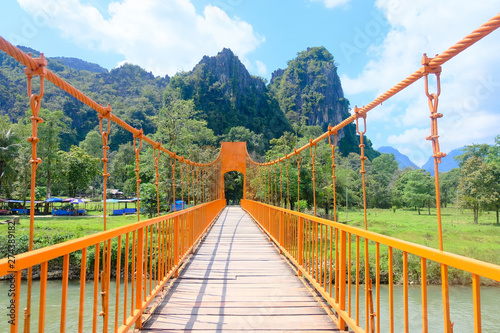 Poster Olive Orange bridge in Vang Vieng, Laos