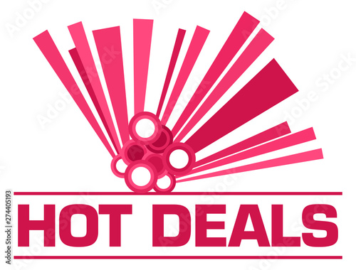Poster Individuel Hot Deals Pink Graphical Element Text
