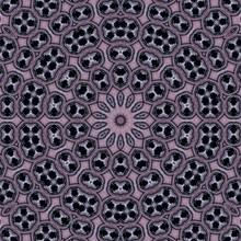 Black Floral Darkness Pattern Kaleidoscope. Phone.