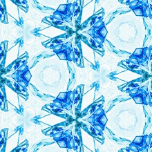 Abstract Blue Ice Pattern Symmetry. Illustration Snowflake.