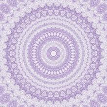 Kaleidoscope Purple Geometric Pattern Abstract. Design Template.