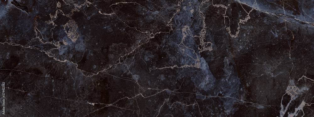 Fototapeta dark color marble texture, black marble background