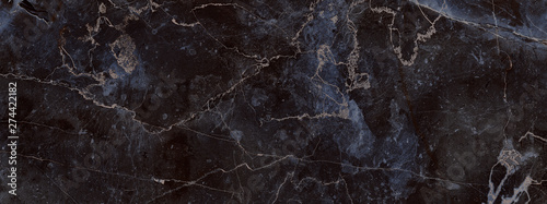 Fotomural  dark color marble texture, black marble background