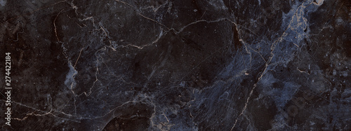 Fotografia dark color marble texture, black marble background