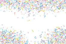 Vector Colorful Music Notation...