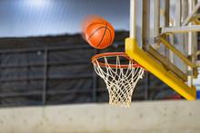 バスケットボールの試合会場