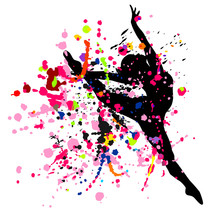 Dancer In Splatters.