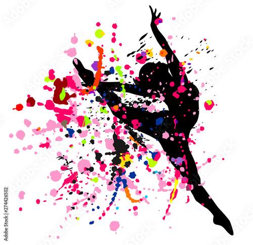 Leinwand Poster  Dancer in splatters.