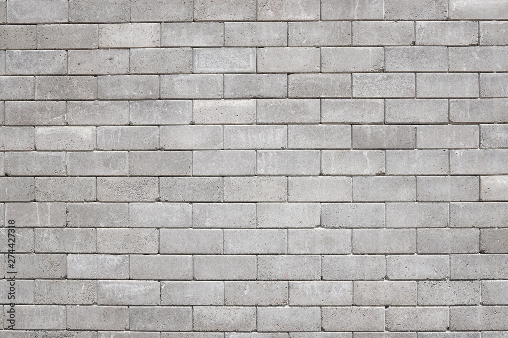 Fototapety, obrazy: Old cinder block wall background, brick texture and background.