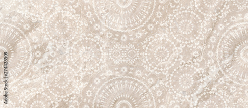 vintage background with pattern, lace and marble design, Canvas Print
