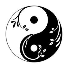 Decorative Yin Yang Symbol. Ab...