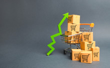 Shopping Cart With Cardboard B...