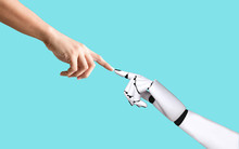 Human Hand And Robot Hand System Concept Integration And Coordination Of Artificial Intelligence Technology