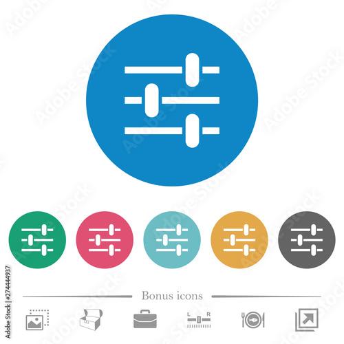Photo Adjustment flat round icons