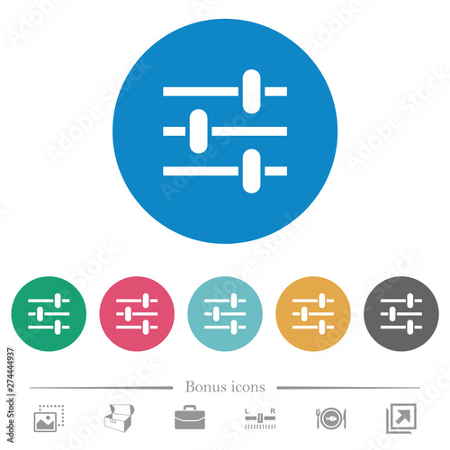 Adjustment flat round icons Canvas Print