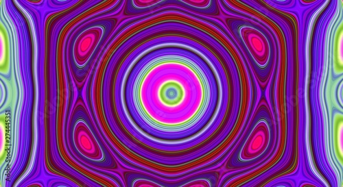 Psychedelic symmetry abstract pattern and hypnotic background, design wallpaper. #274445351