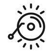 music cd - minimal line web icon. simple vector illustration. concept for infographic, website or app.