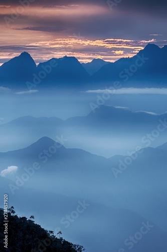 View Of The Foggy Valley In Sierra Nevada De Santa Marta