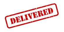 Delivered Rubber Stamp Vector