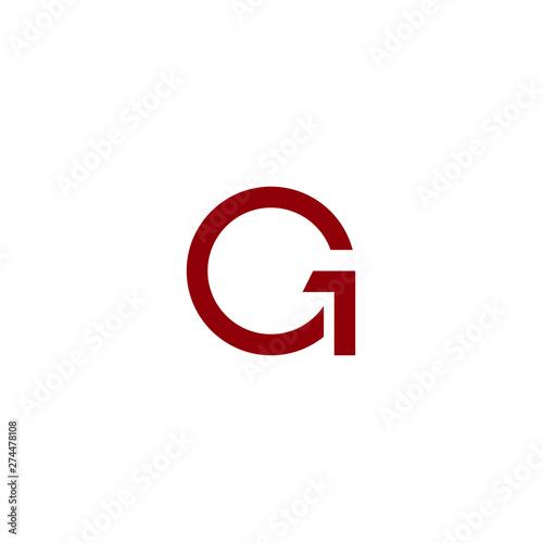 Obraz na plátne letter G icon logo design concept