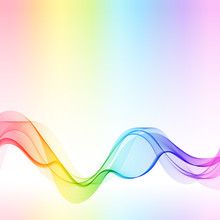 Template With Gradient Rainbow Wave Line For Your Text, Information, Publishing.