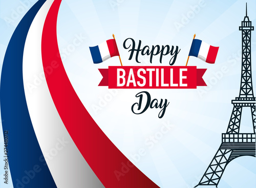 happy bastille day Canvas Print