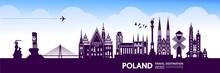 Poland Travel Destination Vector Illustration