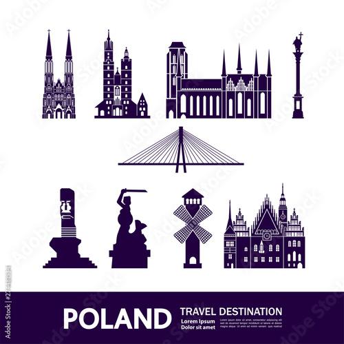 Fototapeta Poland travel destination vector illustration obraz