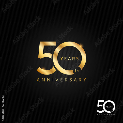 Canvastavla 50 years anniversary logo, icon and symbol vector illustration