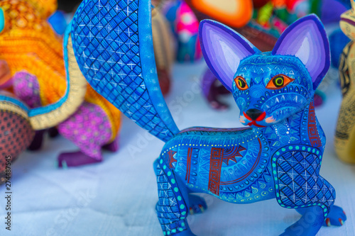 Canvas Print Alebrije, trancelate; Mexical art craft in Oaxaca