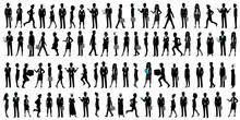 World Businesspeople Silhouette